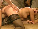 Hot blonde Hannah Harper is doing work on a big cock with her mouth.  After giving the guy a nice blowjob, she goes for a long and hard ride on his big cock.