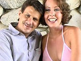 Julie Night and Rick Masters give a pretty entertaining interview before they start fucking.  Afterwards, Julie proceeds to suck on Rick's big cock to get it nice wet so it will slide right into her ass. Once through fucking, Rick drops big load of jizz in Julie's wide open mouth.