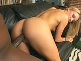 Jasmine Lynn, a cute blonde, has got herself big black cock ready to pound her ass.  She starts by brushing her teeth with his cock before getting her nice white ass fucked.