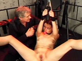 This masters has found himself a cute little bondage virgin.  He starts out nice and slowly with her, but quickly starts dishing out the punishment.