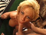 Sammie Sparks, a rocking 41year old blonde, gives this young guy a good lesson in fucking.  She gives him a very experienced BJ before showing she still has got a strong cock riding game.