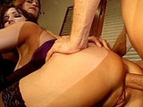 Shanna, a sexy redhead, is throat fucking a big cock with her voluptuous friend Taylor.  After the sloppy dual BJ, they take turns riding and getting fucking in all of their holes by the dude.