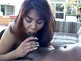 Sin Nye is a busty Asian who loves to suck big fat cock. In this clip, Sin finds herself with big black cock in front of her face waiting to get sucked bone dry.