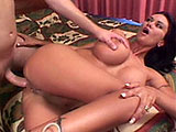 Candy Roxxx, a sexy ass brunette, is taking a sensational anal pounding from a rock hard cock. Before getting fucked in her pooper in many different positions, she has her ass hand fucked as she blowing on the dude's big cock.