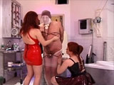 Hot Mistress Mercy and her cute little assistant get themselves a new man bitch.  Their new slave is a bondage rookie, but by the end of their hour-long torturous session,  he gets educated to be a good little slave.