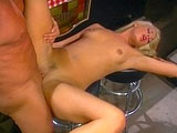 Jeanie Rivers, a sexy blonde, is just one of those girls who loves a good old-fashioned dicking. She starts with sloppy BJ, so that his big hard dick will slide nicely into her pussy.