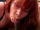 Sierra Vista is a beautiful mature 50 year old woman. She puts her well seasoned mouth to work on a black cock.  She licks and sucks up and down his ebony twig and berries until his cock erupts cum on her tongue.