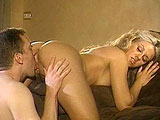 Inari, a sexy blonde, is getting fucked good and hard by some dudes big johnson. She gives his big schlong a sloppy suckjob before getting her cute cunt stuffed full of cock.