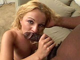 Jessica Dee, a smoking hot blonde, is getting her daily fill of big black sausage.  She starts out with a nice little intro where she fucks herself with a dildo in her ass.  After a minute or two of that, she gets the real thing.  A hard black cock that loves to pound hot white ass hole.  To wrap it