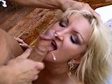 Ashley, a big titty blonde, will do anything that her husband asks of her, like suck another guy's big cock.   As Ashley sucks and fucks on the other dude's beefy cock, her hubby is right by her side coaching her on.