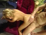 Bunny Luv, a hot all natural blonde, is getting her pussy drilled long and hard.  She slobs all over a dudes big cock before having her pussy thoroughly fucked.