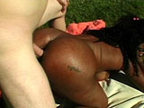 Lola, a hot full figured black girl, gets her nice round ass fucked by a big hard dick.  She has her ass hole thoroughly fucked after her amazing knobjob.