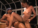 A sexy little black girl, is getting her box stuffed full of cock. She kicks the fun off with a real wet blowjob. After mouth fucking this guy's hard cock, she spreads her legs and gets fucked.
