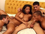 This hot group sex video shows that some things are not off limits.  With only one girl for four guys, these guys don't care, because they can just fuck each other.