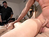 Kitty, a sexy redhead, is getting the pipe laid to her in front of her hubby.  She starts with super sloppy knobjob before taking a thorough fucking to her cunt.