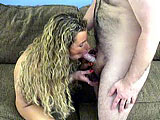In this amateur scene, Holly gets with the hairy geek while a naked chick takes pictures in the background.  They exchange oral and then the guy covers up to fuck her.  Holly sucks his dick in between positions.  Maybe she likes the taste of latex.  She gets a couple drops of cum dribbled out on to