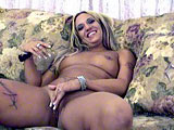 Lexxi is an amateur blonde chick from Florida.  She shows off her tattoos and piercing with pride as she undresses.  Not even having to be asked, Lexxi starts rubbing her pierced clit and pussy lips.  This one shows some promise.