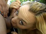 A very hot blonde with natural tits engages in some outdoor anal sex with a stud.  She gets banged in multiple positions and holes before taking a facial, all while the sun is shining down upon her face.
