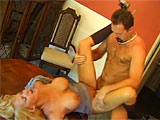 Lita Chase is a busty blonde with a tight body.  She slobs on knob with the best of em and takes it in the ass with ease.  In this scene, she plays the role of sexy tutor.  Watch her give this guy the time of his life fucking her in the dining room and taking his load on her pierced tongue.