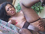 Sydnee Capri is a sexy ebony with an appetite for cock.  She takes it deep in her throat and in her wet, bald pussy.  Her ass is begging for it and she gets that monster stuffed in her tight asshole, taking a break to taste her ass on the guy's cock.  Sydnee sucks every last bit of cum out of her