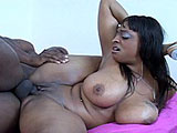In this scene, Carmen Hayes is hot & horny, waiting for her man.  When he shows up, she slurps on his massive meat and her favor is returned.  This guy goes downtown and eats that chocolate pussy good before stuffing his cock in there.  These two fuck like rabbits and Carmen gets her big tits dumped