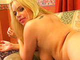 This scene gets right to the action with Alicia Rhodes sucking cock.   With the exception of Alicia fingering her pussy, this scene is all anal, all the time.  She takes an open mouth facial and lets it drip all down her chin.