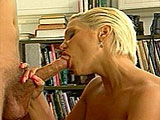 Hot busty blonde Shasta is on her knees blowing a guy. She holds onto her big funbags as the dude pounds his cock in and out of her throat for several minutes. Shasta's beautiful pussy is tapped in a bunch of positions before her mouth is filled with cum.