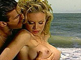 Lee Stone buries his 10 incher in blonde whore Bridgette Kerkove's throat, twat, and anus. After fucking all three of her holes in every conceivable position, he sprays her left ass cheek down with his penis pudding in the final moments of the scene.