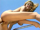 Briana Banks is smoking! Watch this top heavy nympho chug down on this guy's meaty dick before slamming it in her tight, shaved box. The guy pulls out after nailing her in several positions and feeds the cum thirsty whore a load of love lotion.