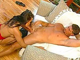 A stunning Asian chick with a great rack, Asia Carrera, gets her mouth and pussy torn up.  After getting fucked by this dudes big throbbing meat stick, a warm load is laid on her ass. 