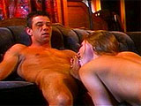 This guy loves pussy so much that he goes down on sexy Aurora Snow for about ten minutes before fucking her. He nails her in a variety of positions before busting a nut in her mouth.