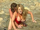 A voluptuous Barrett Moore shows us her beautiful jugs and her incredible dick sucking skills. After being fucked in a bunch of positions on the beach, she receives a hot sticky load all over her mouth.