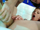 Vanda Vitas, a smoking hot petite brunette, is swallowing down this guy's beefy cock. After getting her oral fix of cock, she takes the guy's cock for a ride in multiple positions. Once thoroughly satisfied with her ass pounding, she lets the guy shower her face in man batter.  The whole time th