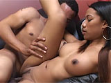 If you didnt know any better, youd think this quiet Asian girl and her black costar were really in love. They kiss before getting started, and he eats and fingers her delicious pussy for a while, before slowly sliding his cock into her drenched crevice. They fuck in the missionary, but then sh