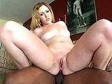 Nilla is sleeping on a black guy's couch with her ass in the air.  Her mom taught her to sleep this way in case a black guy wants to fuck her in the ass.  Or maybe she heard it in the LMAFO song.  Well guess what, Nilla.  You found one.  She gets to work sucking his cock and them mounts him on the