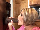 Sexy blonde Nikki Grind loves to take black monster cock! She's a pro at sucking and fucking the monstrous chocolate.  Sadly though, in the end, she bitches out on the facial. 