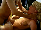 Anastasia Blue is the young and petite blonde in this scene.  Watch her give a sloppy blowjob, taking that dick deep down her throat.  Her shaved pussy is pounded hard and she rides that cock hard in her tight little asshole.  This dirty slut sucks cock dirty and takes the goo in her mouth with a sm