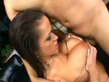 Sexy brunette, Carmella Bing, is hogging on some big cock. After a sloppy suckjob and a lot of titty fucking, she gets her ass hole reamed the fuck out before getting her big boobs covered in cum.
