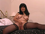 Teryn is a big girl with big tits and big lips.  She plays with those large pussy lips, spreading them apart and pulling them down to show their length.