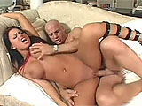 This cute and busty beach babe is Eva Angelina.  She grew up sucking off surfers, and now is showcasing her skills for the world to see.  Eva can take big cock down her throat without gagging, and can't get enough of it stuffed in her bald twat.  When she gets a face full of cum, she just giggles
