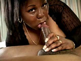 Sabrina Love is a large black woman that is all about pleasing her man.  He sucks on her huge titties, and then sucks on his black cock.  Sabrina rides him, and he pound her a few other positions.  In the end, the guy shoots his wad on her face.