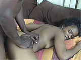 Stacey Cash worships the big black cock that she gets to take care of in this scene.  She sucks on it for a long while before getting it thrust in to her bald pussy.  When this guy has had enough, he shoots his goo all over her throat and chest.