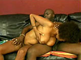 This big titty black girl is going to town on a cock with her mouth. Before this black babe does oral sex work, she gives him a good titty fucking.