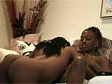 Chastity and Honey Love are the starring whores for this scene.  Honey is the first to go downtown, and she dives in to lick Chastitys hairy black vag.  She then gets her turn as Chastity eats her bald snatch.