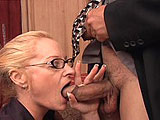 Tai Ellis is an older teacher that has been hauled in to the principal's office, and she is trying to keep her job.  Instead of going before the school board and losing her job, she tries to work things out with the principal by giving him a lesson in sex education.  She demonstrates proper cock s