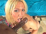 Kylie Morgan loves big black dick.  This slut from Missouri sucks and licks that black cock like it's the best she's ever tasted.  Her shaved pussy is pounded hard, and she rides like a pro.  The guy dumps his load inside her pink slit and she lets it drip out over her asshole.