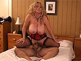 This scene has Kandi Cox getting it on with none other than The Hedgehog himself, Ron Jeremy.  He plays with her huge honkers and then she hoovers his hog.  Ron goes down to lick and finger bang Kandi before throwing his rod in her vag.  These two have fun and Kadi gets a large load to go on her lar
