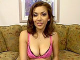 Chanel Chavez is 20 year old California girl that isn't all that bright.  Good thing she knows how to suck and fuck cock.  She talks to the cameraman and masturbates until a guy comes in and eats her out.  She sucks his cock a bit and then he starts drilling her fuck channels.  He makes her cum fu