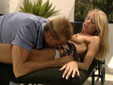 Sexy blonde, Tawney Roberts, loves it when the guy in this clip drives his tongue in and out of her pussy. She sucks down every inch of his cock before having her cunt plowed in several positions.