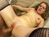 Haley Scott is a total cock whore.  She warms herself up with a huge dildo, shoving it her ass.  Then she is joined by a guy and she inhales his cock deep in her throat.  He fucks her pussy a couple ways, but after he gets a feel for Haley's ass, he stays right there until he's ready to give her